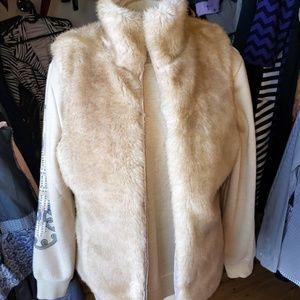 Jackets & Blazers - CLEARANCE!  reversible zip vest fur medium